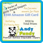 Andy Pandy Bamboo Disposable Diapers $100 Amazon Gift Card #Giveaway