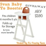 Svan Baby To Booster Bentwood Highchair  #Giveaway