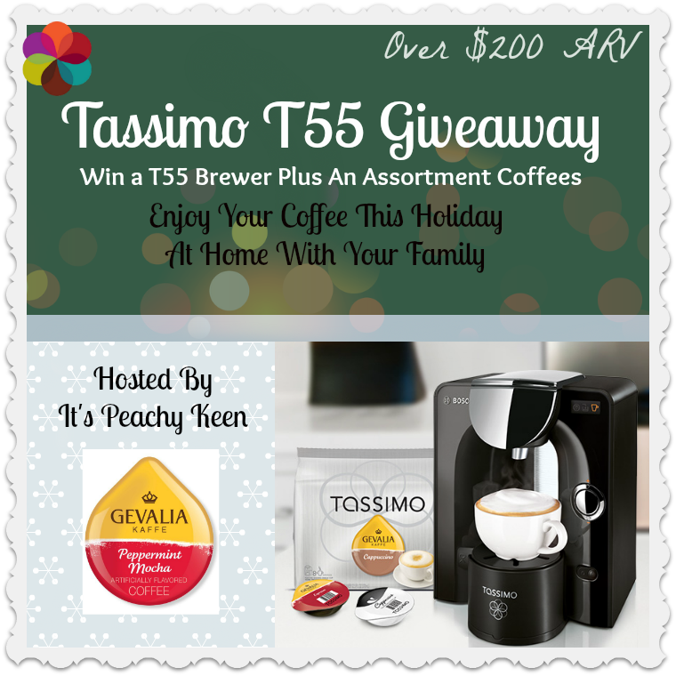 Enter to win a Tassimo T55 Single Cup Brewer. Ends 12/20.
