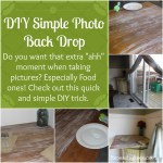 DIY Photo Back Drop Tip