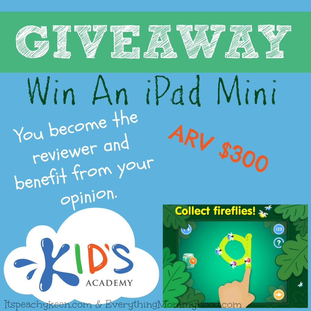 iPad Mini Giveaway-Kids Academy Apps