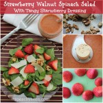 Spinach & Walnut Dressing With Tangy Strawberry Dressing