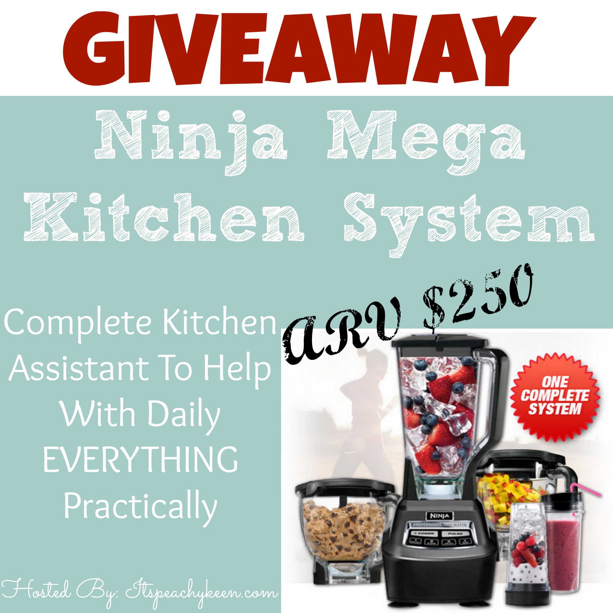 Ninja Mega Kitchen System #Giveaway CLOSED - It\'s Peachy Keen
