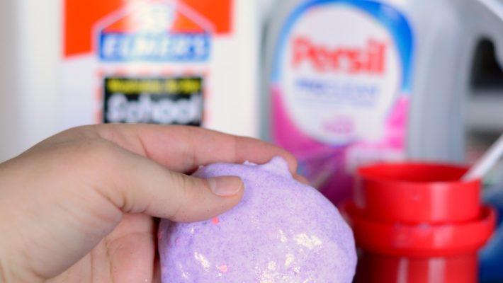 Easy 2 Ingredient Glitter Slime